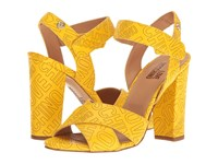 Love Moschino Embossed Logo Heel Yellow