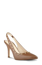 Nine West Women's Fauna Slingback Pump Natural Leather