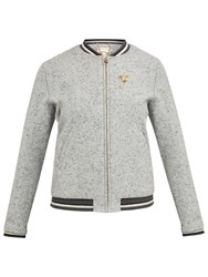 Ted Baker Colour By Numbers Prema Semi Fitted Bomber Jacket Mid Grey
