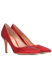 Gianvito Rossi Exclusive To Mytheresa.Com Palladium Mid Sequinned Pumps Red