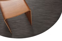 Chilewich Latex Reed Round Floormat Gray