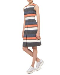 Akris Punto Faded Stripe Sleeveless A Line Dress Multi Multicolor