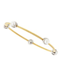 Alor Pearl And Golden Cord Bangle