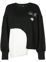 Haculla Witch Hybrid Asymmetric Sweatshirt Black