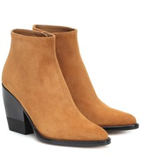 Chloe Rylee Suede Ankle Boots Brown