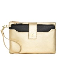 Giani Bernini Saffiano Wristlet Only At Macy's Bronze Metallic