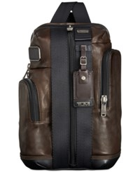 Tumi Alpha Bravo Monterey Leather Sling