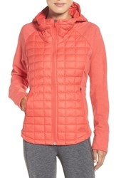 The North Face Women's 'Endeavor' Thermoball Primaloft Quilted Jacket Melon Red Melon Red Light
