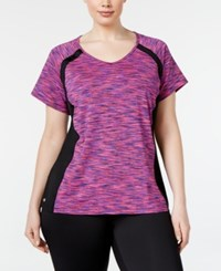Ideology Plus Size Printed Performance T Shirt Only At Macy's Purple Cat