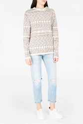 Missoni Men S Hooded Towelling Jumper Boutique1 White