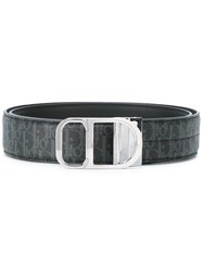 Christian Dior Homme Logo Belt Black