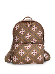 Emporio Armani Printed Faux Leather Backpack Multicolor