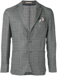 Paoloni Front Button Blazer Grey