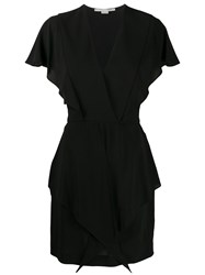 Stella Mccartney V Neck Frilled Mini Dress 60