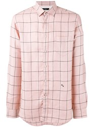 Diesel Checked Button Up Shirt Pink Purple