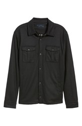 Zachary Prell Seymour Regular Fit Wool Blend Shirt Jacket Black