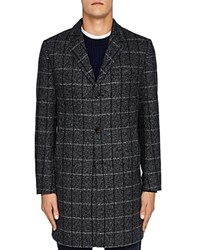 Ted Baker Ando Checked Overcoat Charcoal