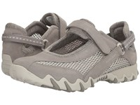 Allrounder By Mephisto Niro Cemento Suede Open Mesh Women's Maryjane Shoes Gray