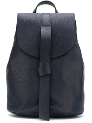 Jil Sander Navy Strap Detail Backpack Blue