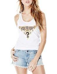Guess Foil Graphic Tank White