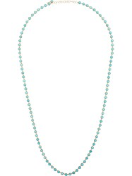 Irene Neuwirth 18Kt Yellow Gold Cabochon Turquoise Necklace Blue