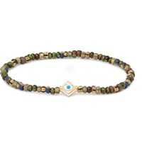 Luis Morais Glass Bead Enamelled Gold Bracelet Gold