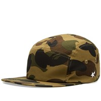 A Bathing Ape 1St Camo Jet Cap Green