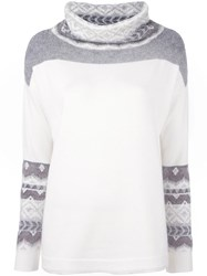 Cruciani Loose Turtleneck Jumper White