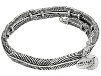 Alex And Ani Feather Spirit Wrap Bracelet Silver Bracelet
