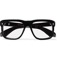 Jacques Marie Mage Yves Square Frame Acetate Sunglasses Black