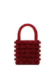 Shrimps Red Antonia Beaded Bag 60