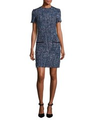 Lk Bennett Edelle Tweed Dress Blue Multi