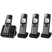 Panasonic Kx Tgd324eb Digital Cordless Phone With Nuisance Call Control And Answering Machine Quad Dect