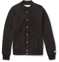 Battenwear Fleece Back Cotton Blend Jerey Zip Up Jacket Black