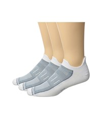 Wrightsock Endurance Double Tab 3 Pack White Crew Cut Socks Shoes