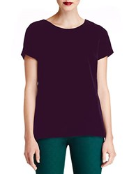 424 Fifth Plus Velvet Tee Plum Perfect