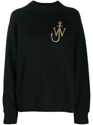 J.W.Anderson Jw Anderson Logo Embroidered Sweatshirt Black