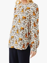 Ghost Clarisse Tropical Graphic Blouse Sketch Pineapple