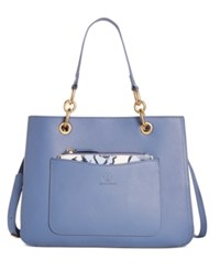 Giani Bernini Floral Printed 2 In 1 Medium Leather Satchel Only At Macy's Blue