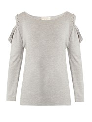 Alex Gore Browne Matilda Wool And Cashmere Blend Sweater Light Grey