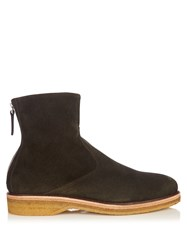 Want Les Essentiels Stevens Suede Ankle Boots Green