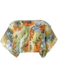 Jean Paul Gaultier Vintage Abstract Print Cropped Blouse Multicolour