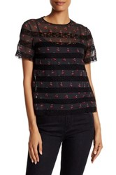 Marc By Marc Jacobs Cherry Print Voile Tee Multi