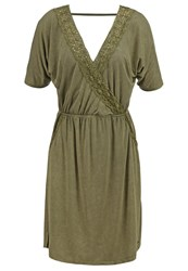 Khujo Tamar Jersey Dress Olive