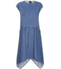 Balenciaga Denim Dress Blue