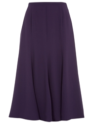 Jacques Vert Fit And Flare Chiffon Skirt Damson