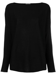 Snobby Sheep Boat Neck Jumper Black