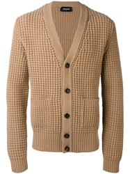 Dsquared2 Knitted Cardigan Men Wool M Nude Neutrals