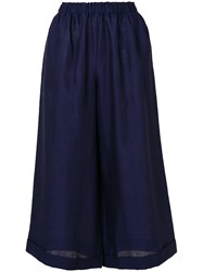 Daniela Gregis Wide Leg Cropped Trousers Blue