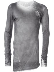 Lost And Found Ria Dunn 'Mended' Long Sleeve T Shirt Grey